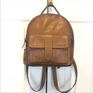 Frye Olivia Brown leather backpack